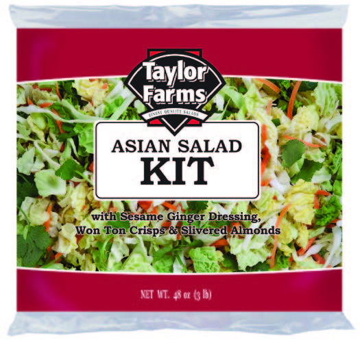 Asian Salad Kit [4 ct/cs, 48 oz, Yuma, AZ 12.0 lb(s)]