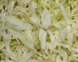 Cabbage, Shredded Green (4 X 5 lb Bags)